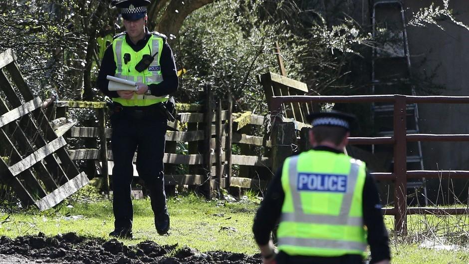 Police at High Craigton Farm
