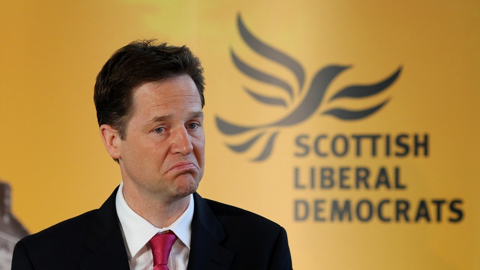 Nick Clegg is calling on Labour and Conservative supporters to vote for the Liberal Democrats in Scotland in order to keep out Alex Salmond