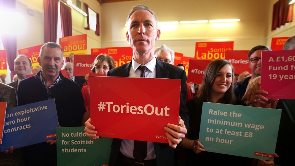 Scottish Labour leader Jim Murphy after speaking to an audience at Glen Halls in Neilston, as he officially launched his party's Scottish General Election campaign