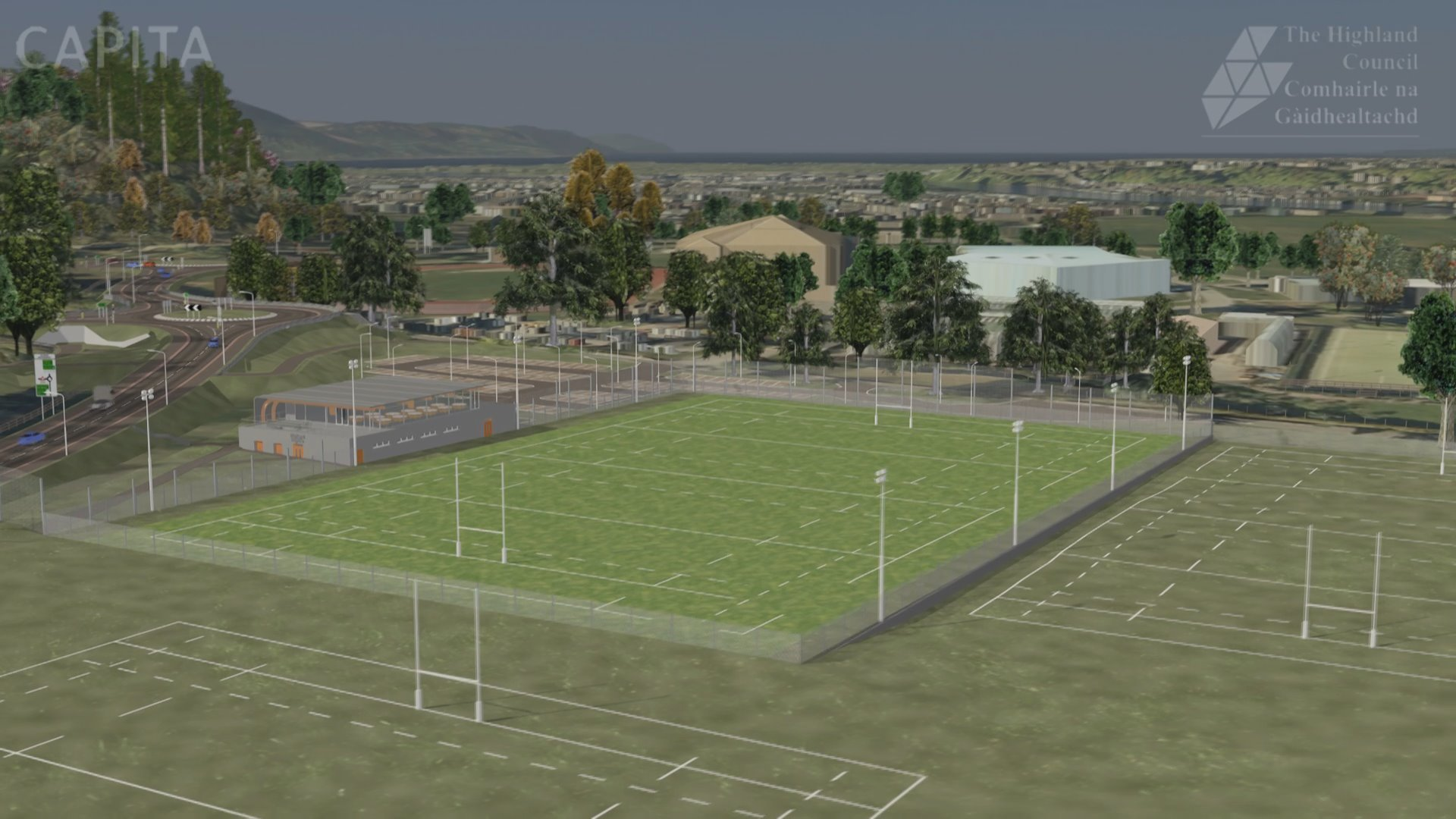A vision of the new facilities at Highland Rugby Club.