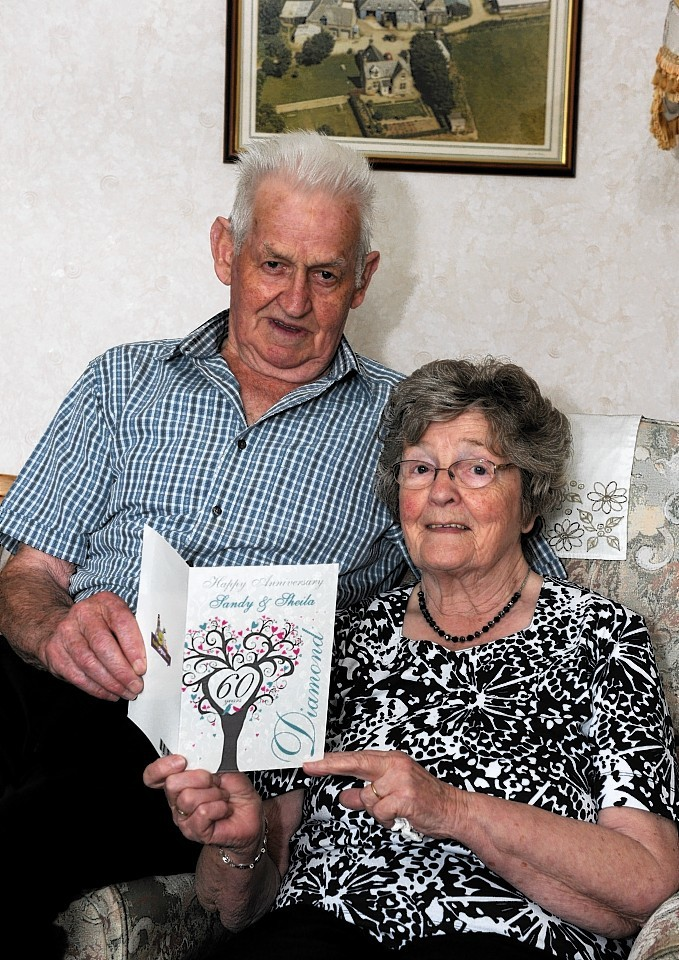 Diamond Wedding couple Sandy and Sheila Donald celebrate at their home in Keith