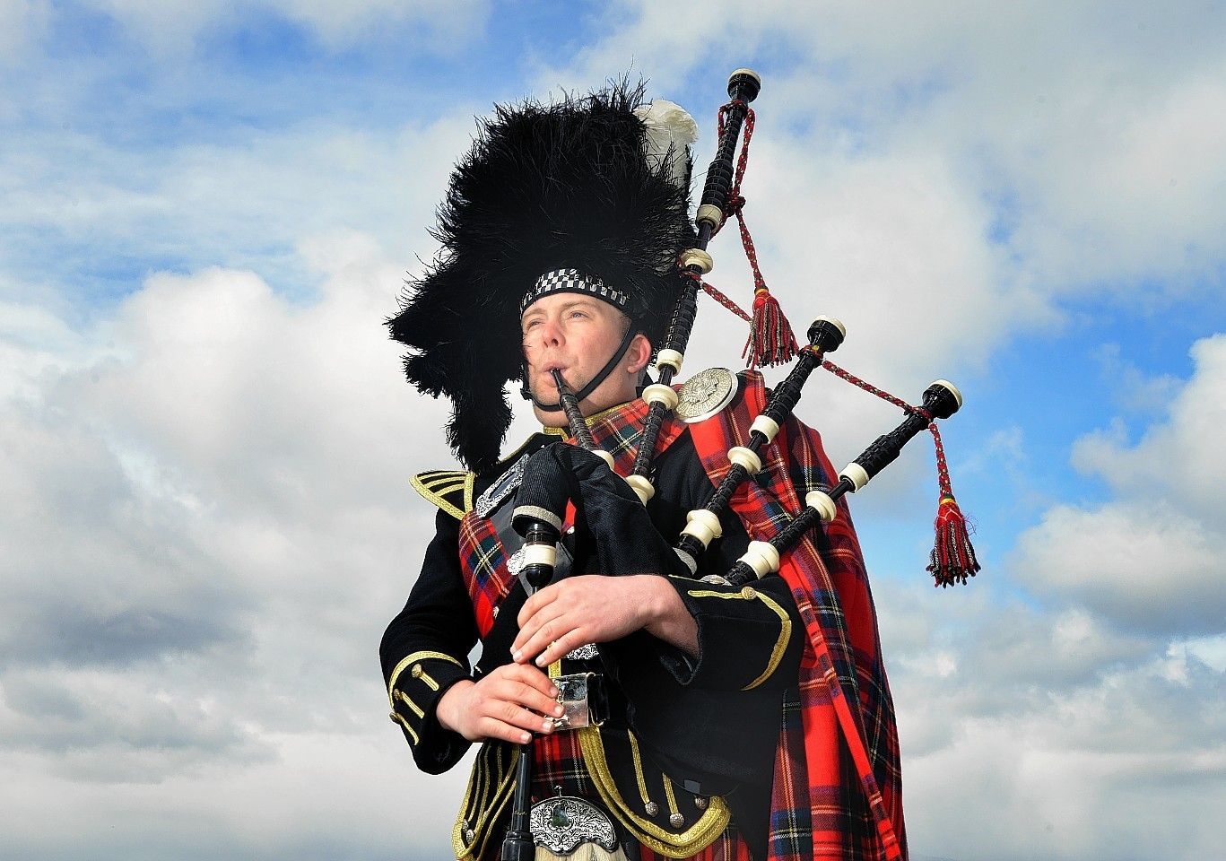 Piper Cameron McKay has volunteered to play the pipes at the funeral of the dead baby