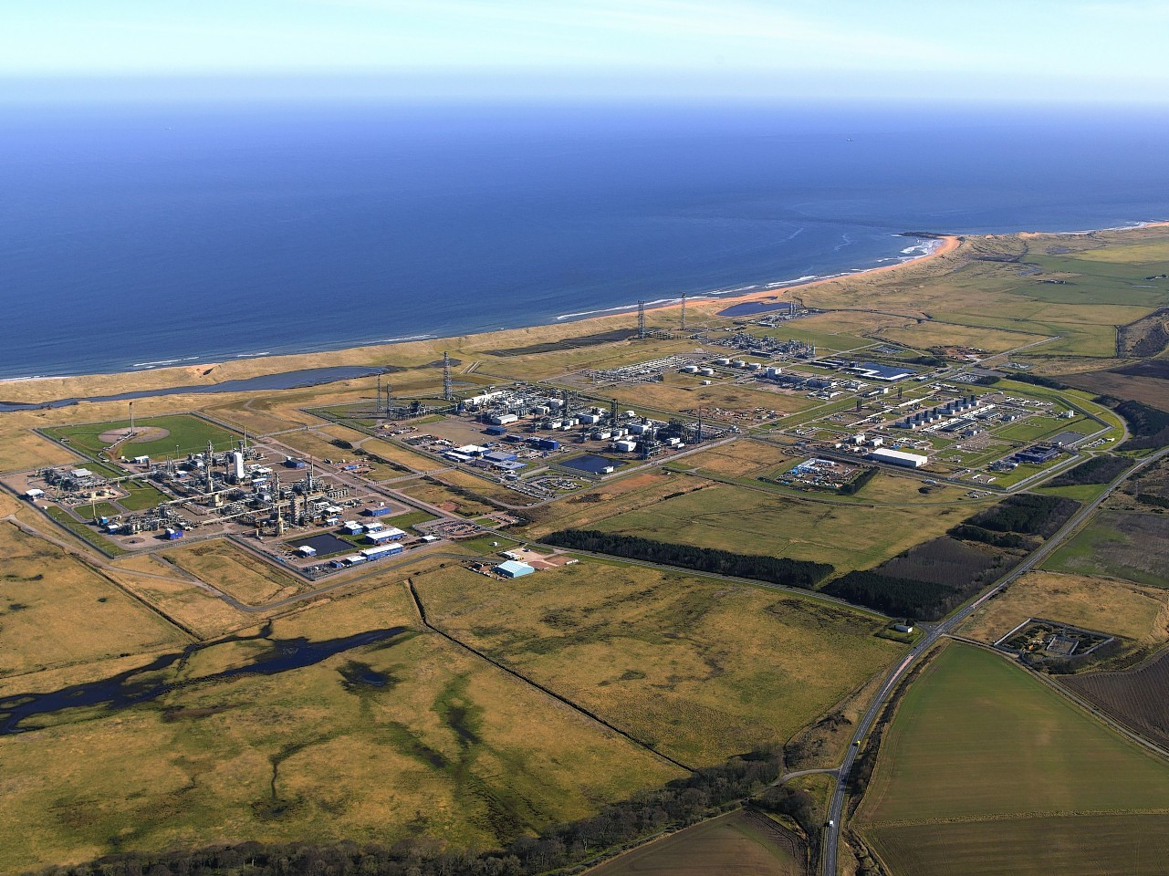 The St. Fergus Gas Terminal is a complex of four natural gas plants