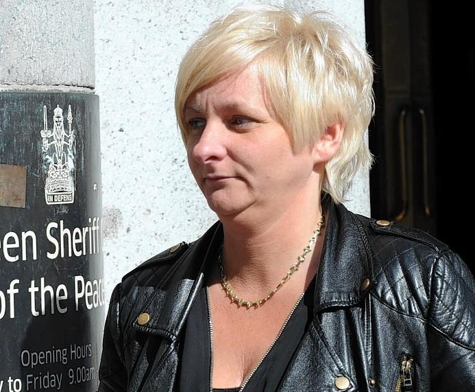 Stacey Duncan at court, Aberdeen.