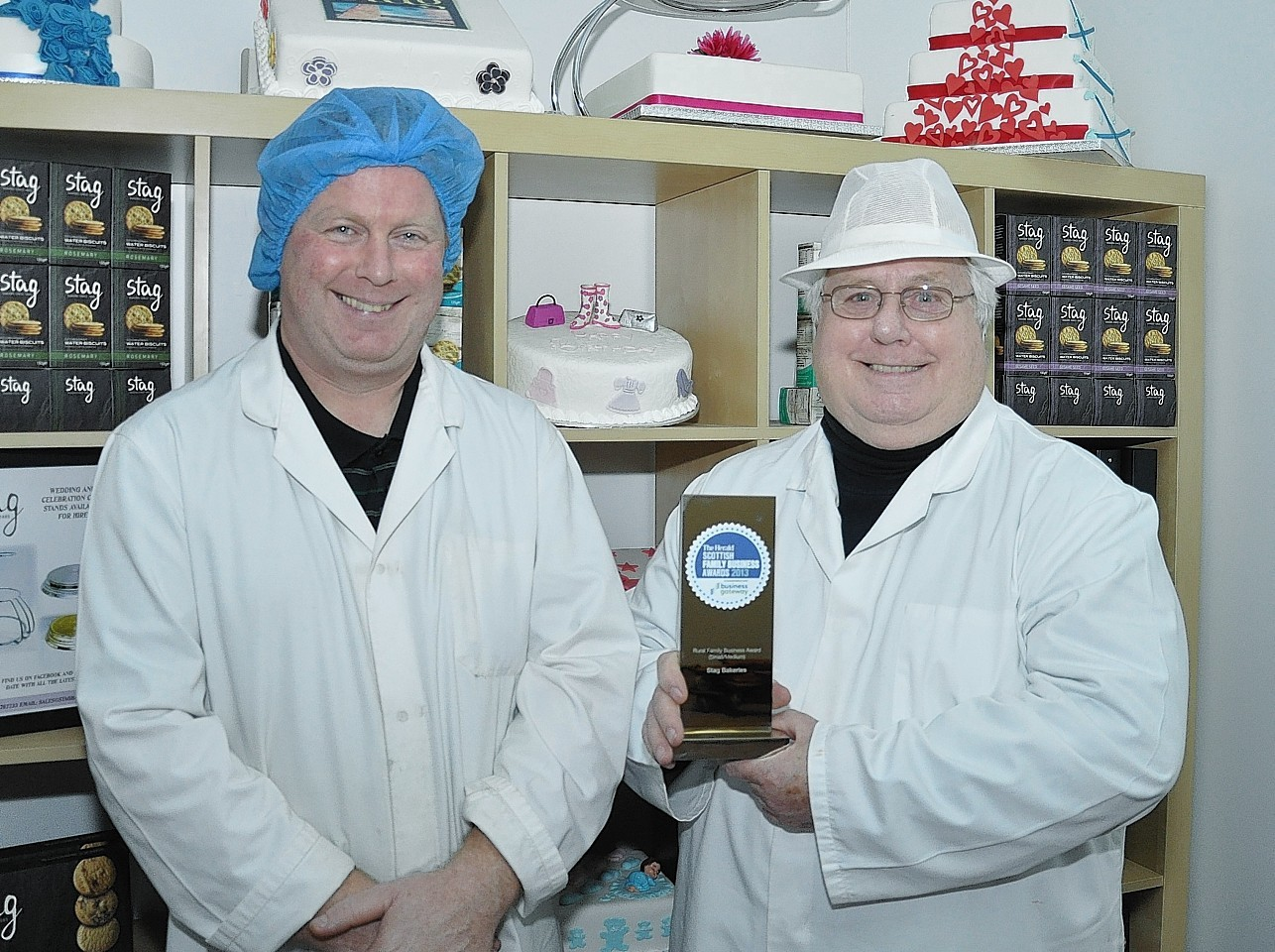 Roddy Macdonald and Charlie Macdonald from Stag Bakeries