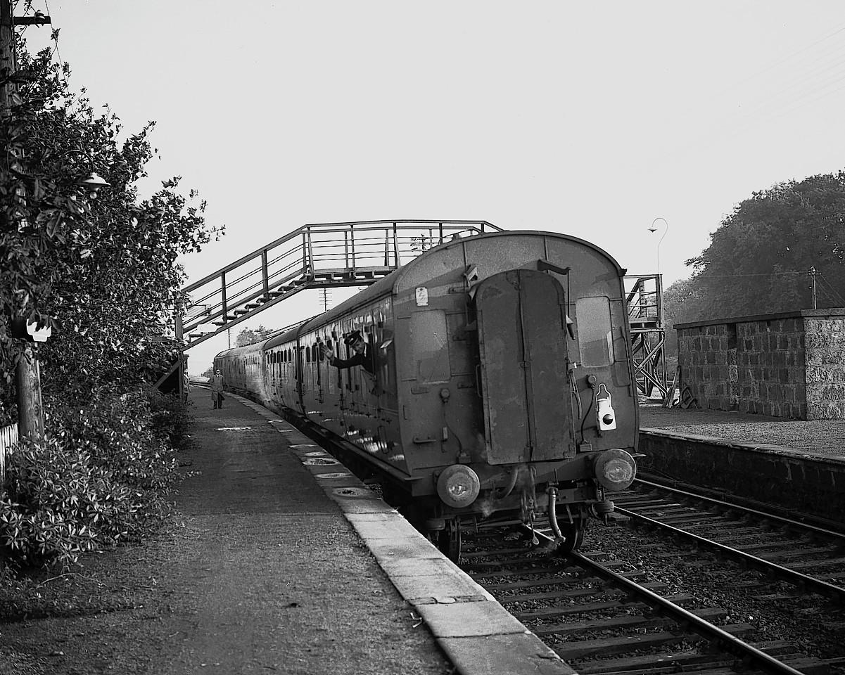 A train leaving Ellon station in 1965