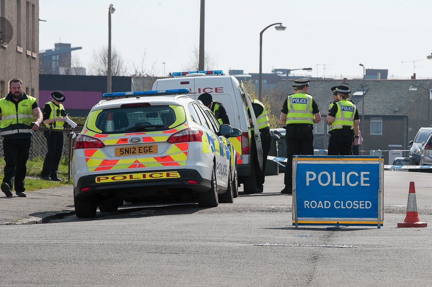 Officers closed off Wardieburn Street West as they carried out their investigation