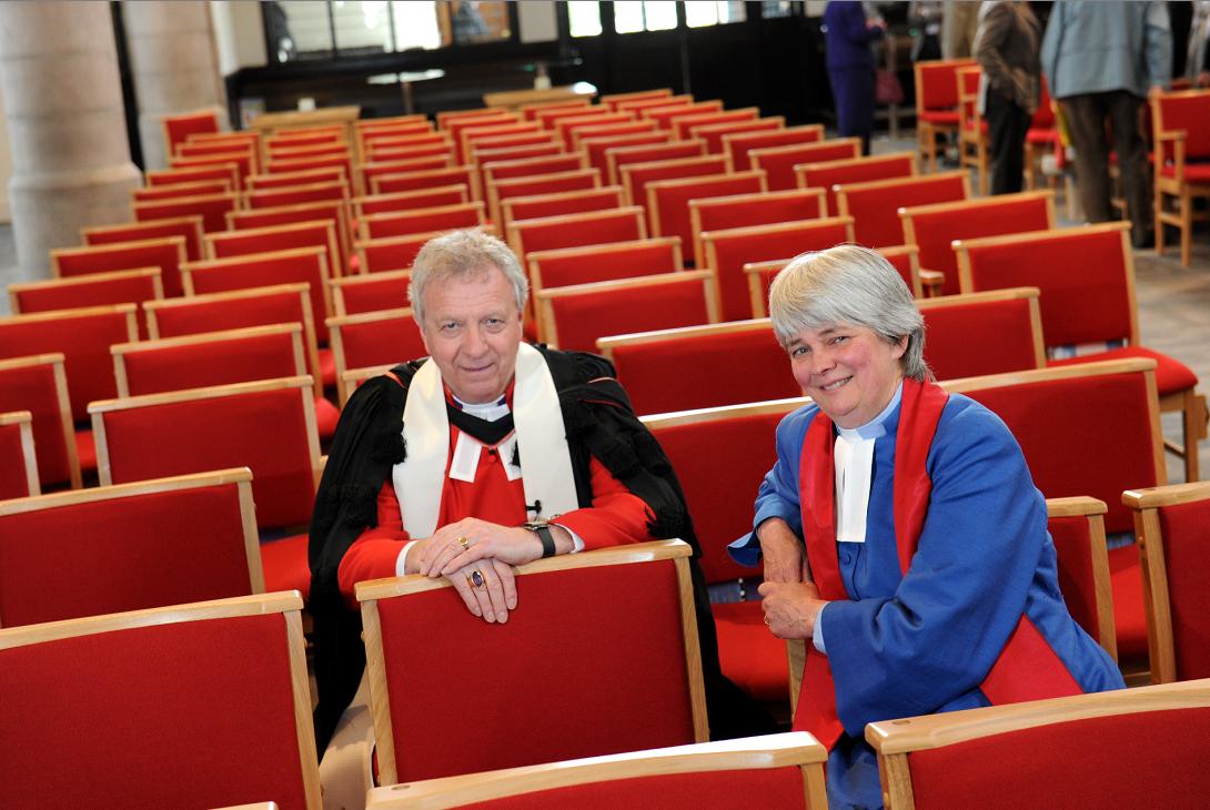 Moderator John Chalmers and Sarah Nicol.