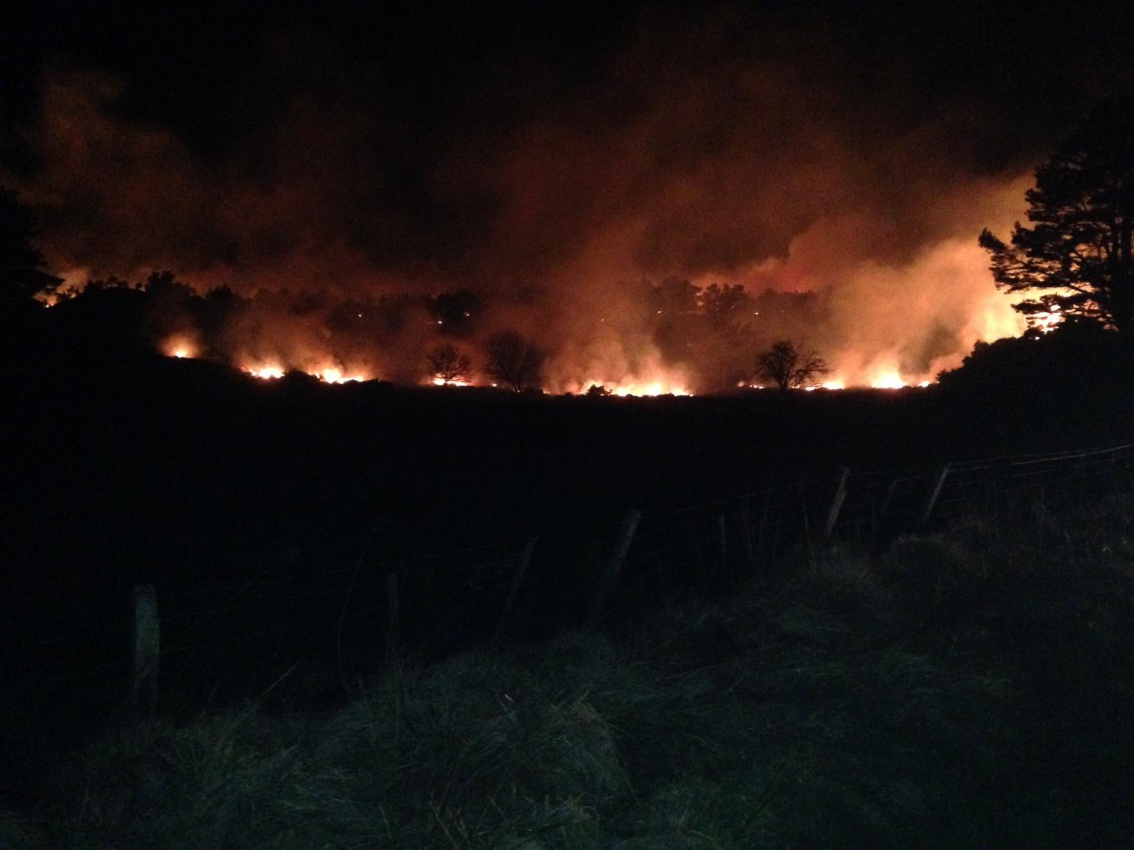 The wildfire at Dornoch
