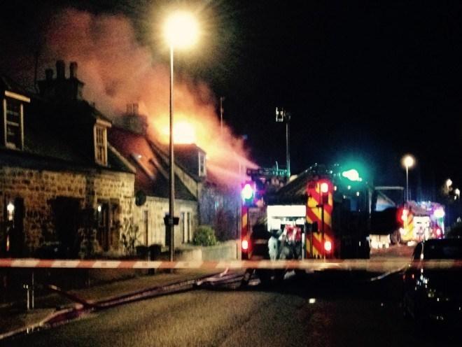 The blaze happened in Lhanbryde