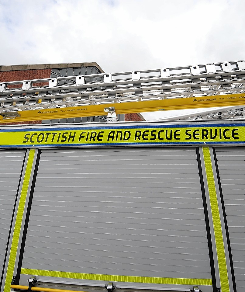 Two Scottish Fire Service appliances from Inverness and a 14,000 litre water carrier are in attendance
