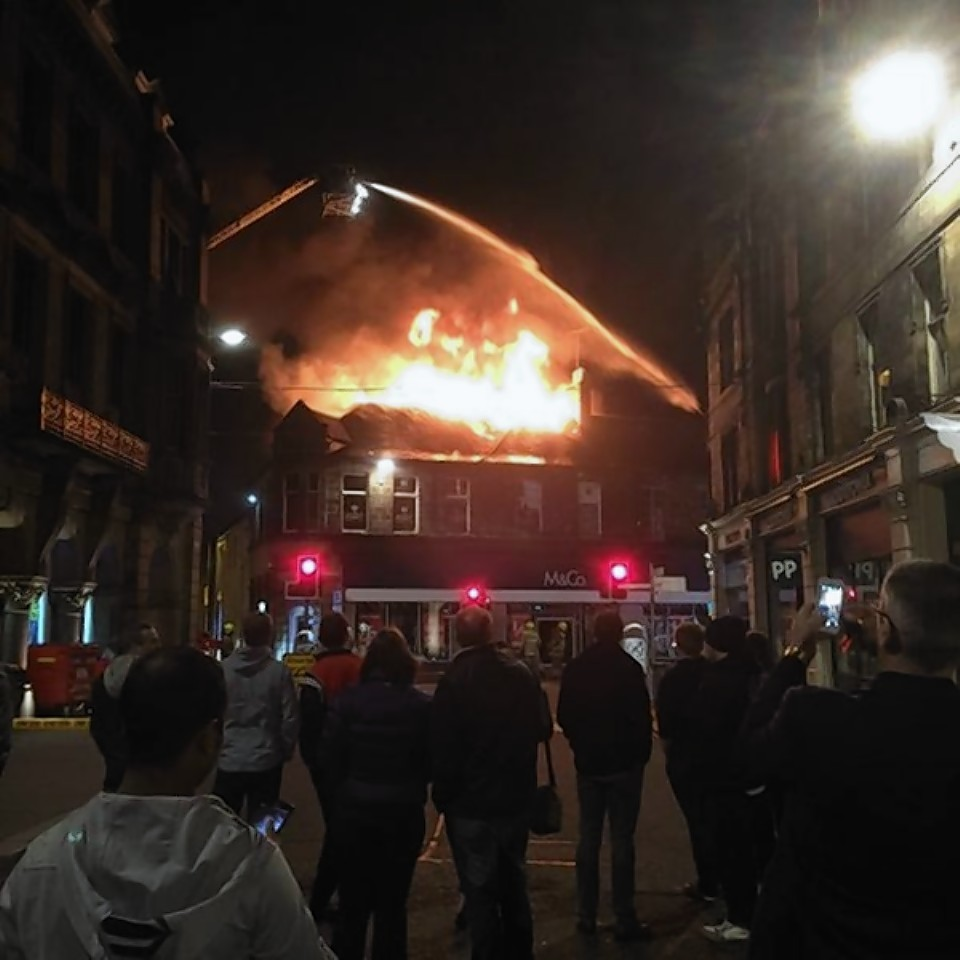 The fire took hold at around 10pm