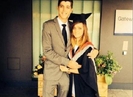 Mitchell Carpenter and his girlfriend  Laura Clarke