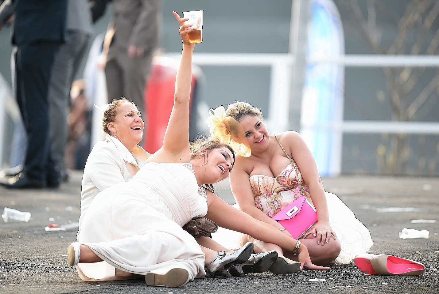 These racegoers raised a glass to Ladies Day