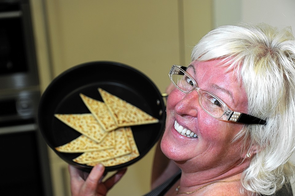 Elaine Sutherland at the Oakwood, Elgin who is organising the first world tattie scone championships