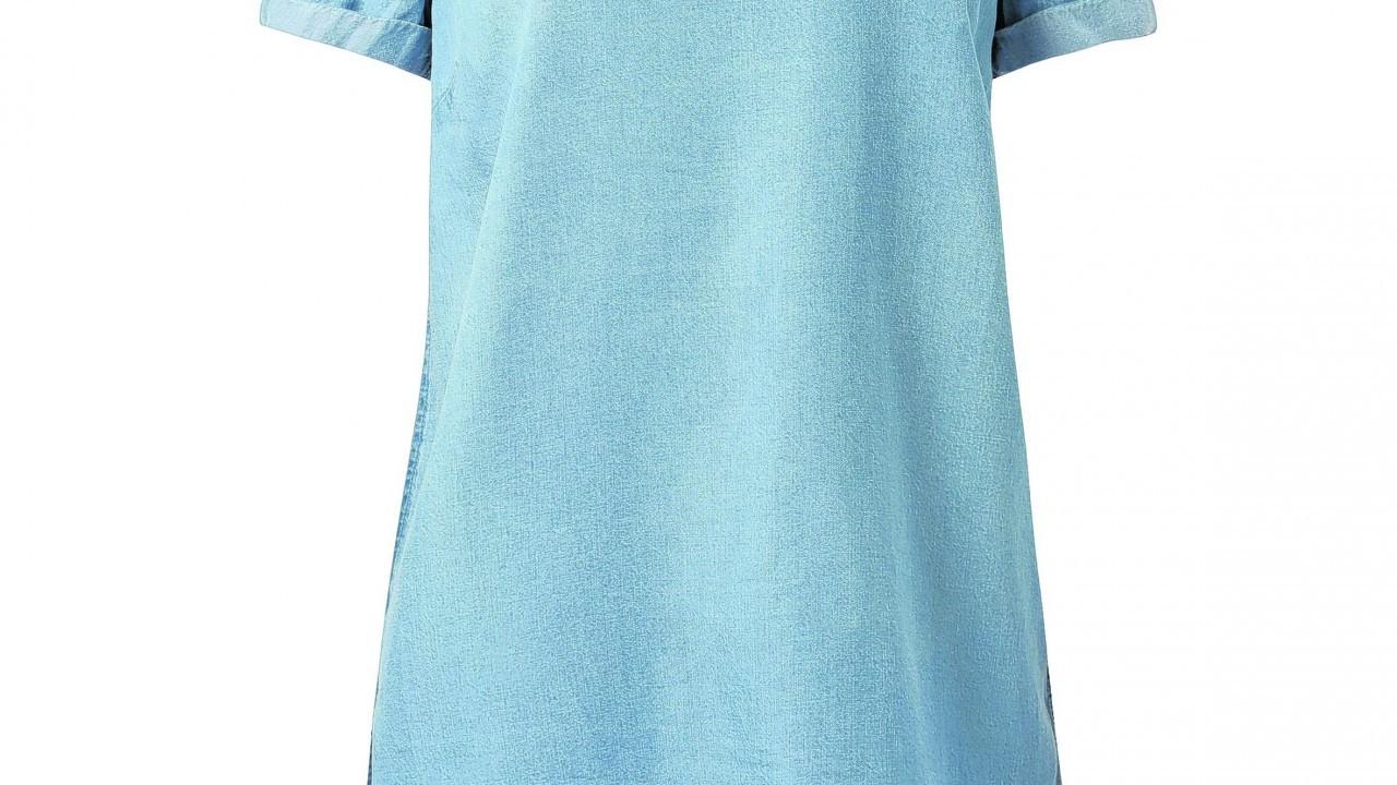 Light Blue Denim Dip Hem T-Shirt, £17.99 (www.newlook.com)