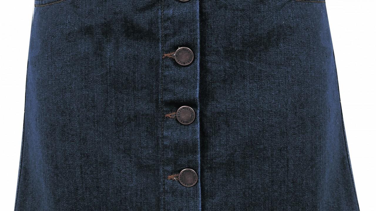 Miss Selfridge Button Through A-Line Skirt, £28
