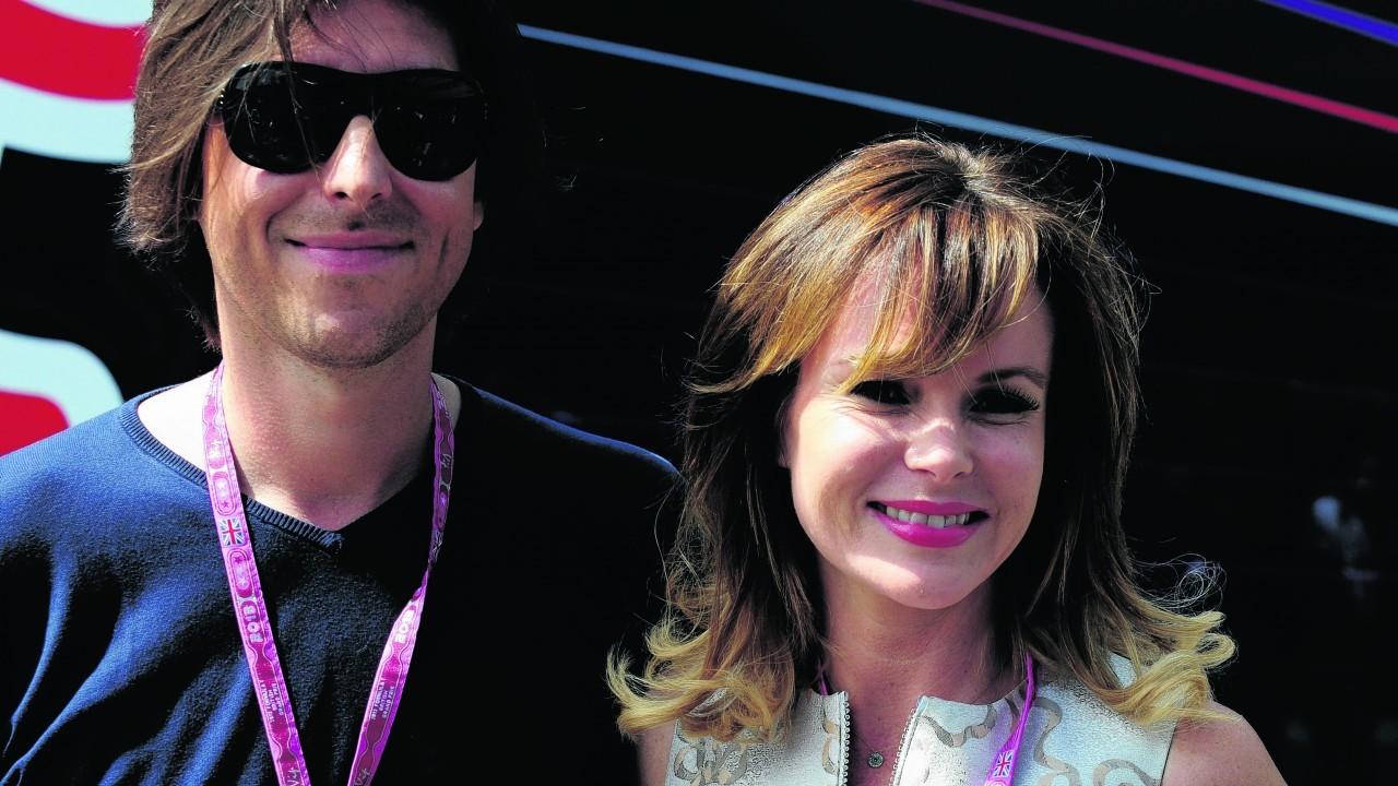 Amanda Holden and husband Chris Hughes