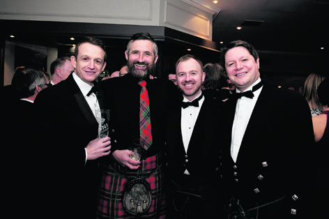 Chris Porter, Duncan Collin, Andrew McNair and Peter Smith at the Royal Institution of Chartered Surveyors (RICS) Aberdeen and North East Dinner
