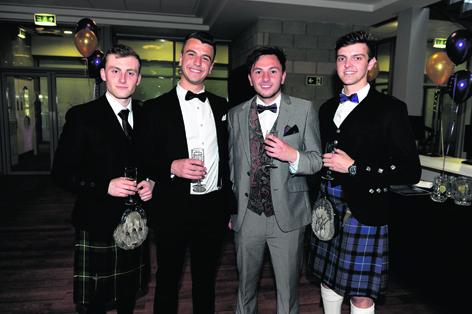 Jack Cassie, Alex Lihou, Craig Falconer and Scott Harper