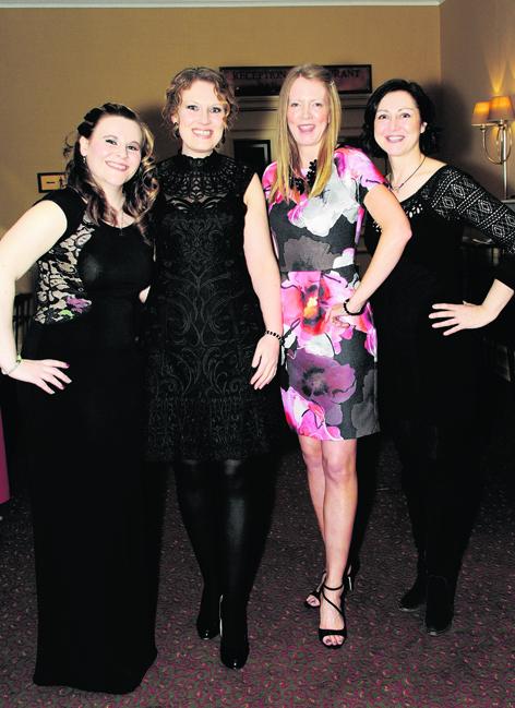 Mairi Cruickshank, Hollie Capel, Allison McKenzie and Kathy Dolby