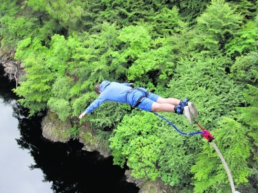 Taking the plunge at Highland Fling Bungee