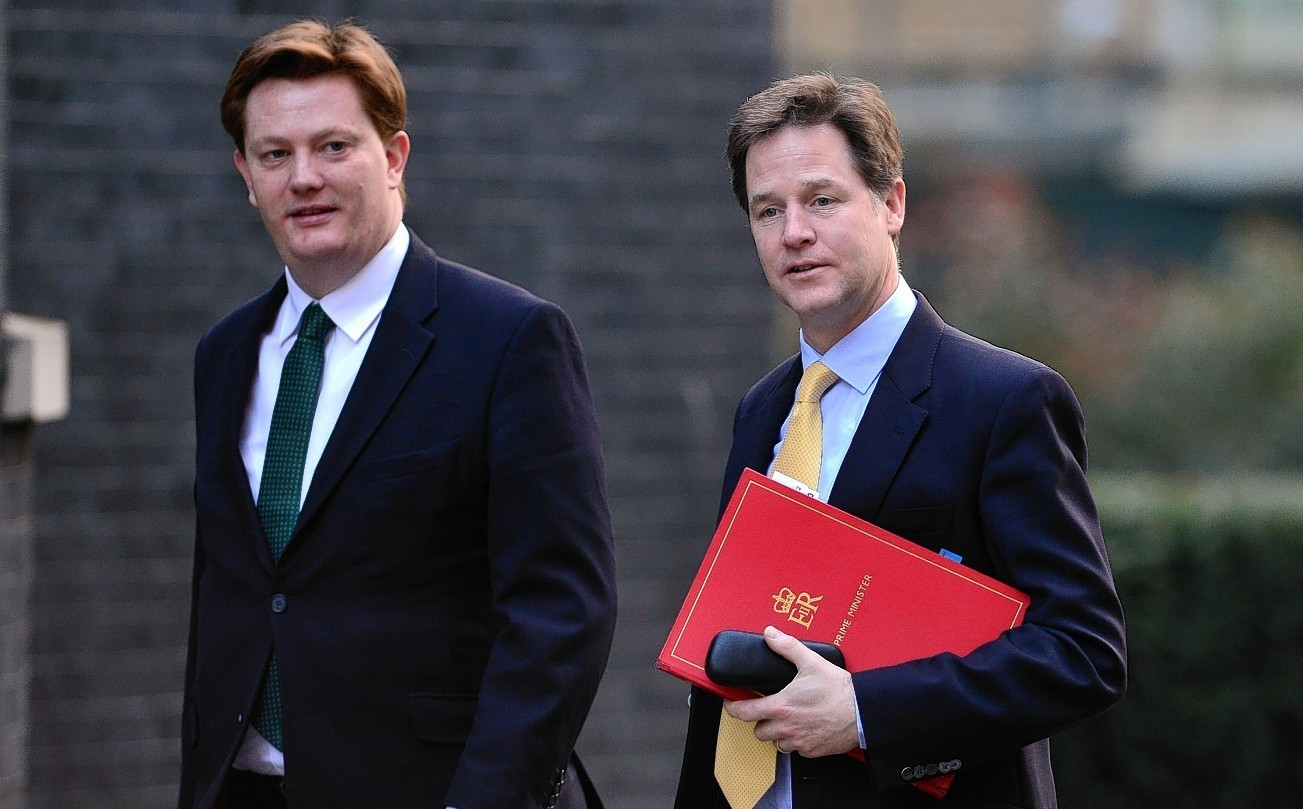 Nick Clegg, right, is urging people to vote for Danny Alexander, left