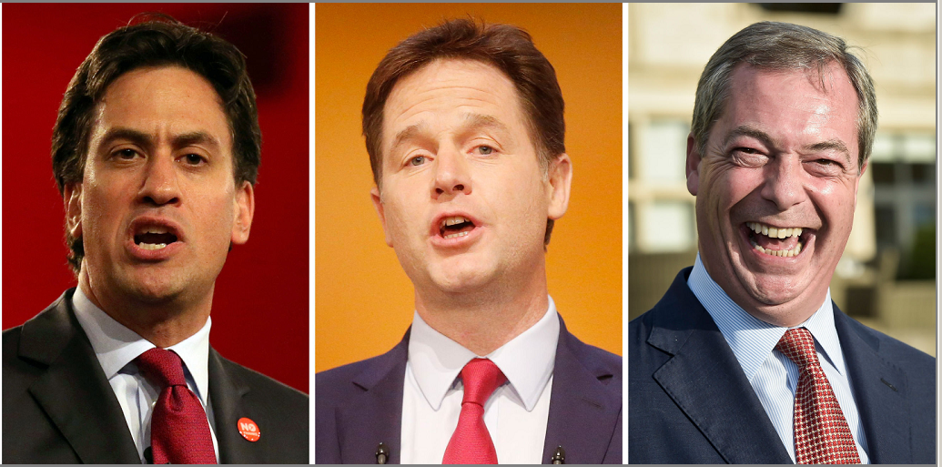Ed Miliband, Nick Clegg and Nigel Farage have all resigned from their leadership roles