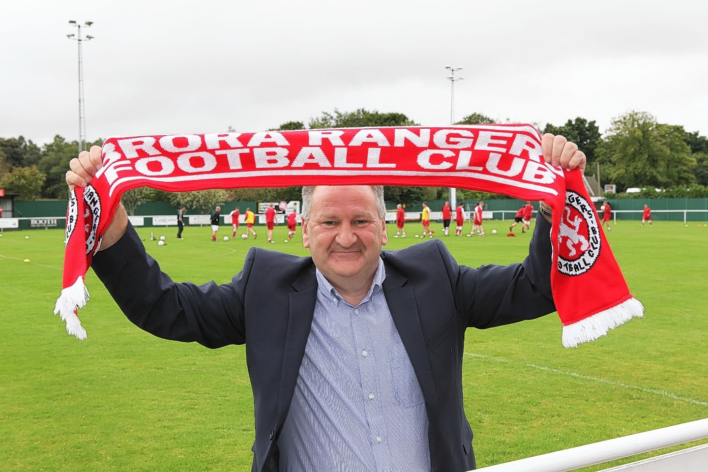 Brora sponsor Ben Mackay is planning to be home from America in time to make it to Saturday's play-off second leg