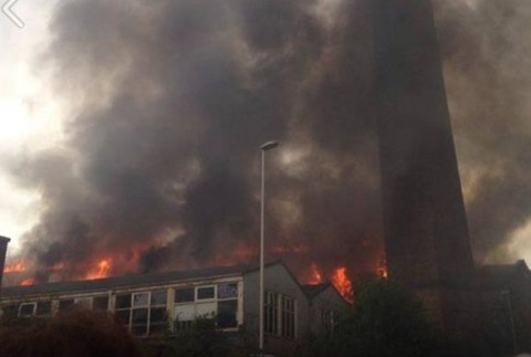 Aberdeen's Broadford Works up in flames