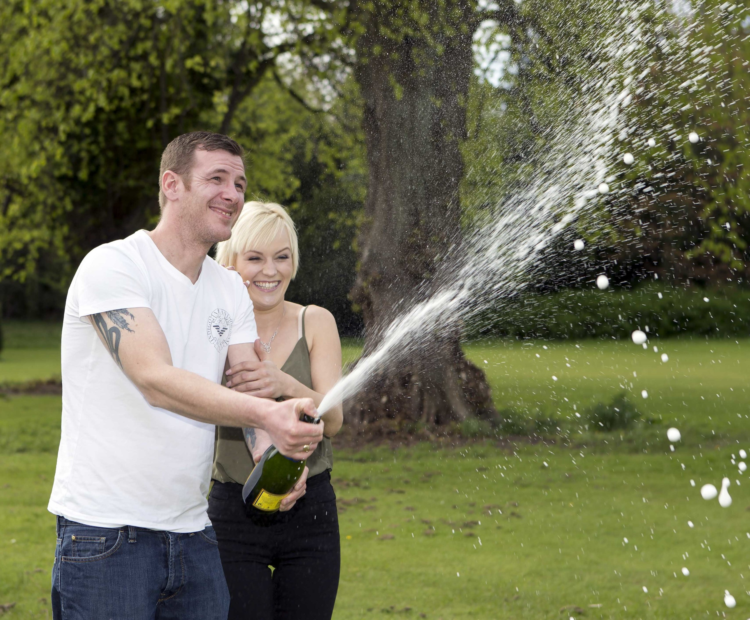 Barry is celebrating his win with girlfriend Hannah. Picture by Ken Macpherson.