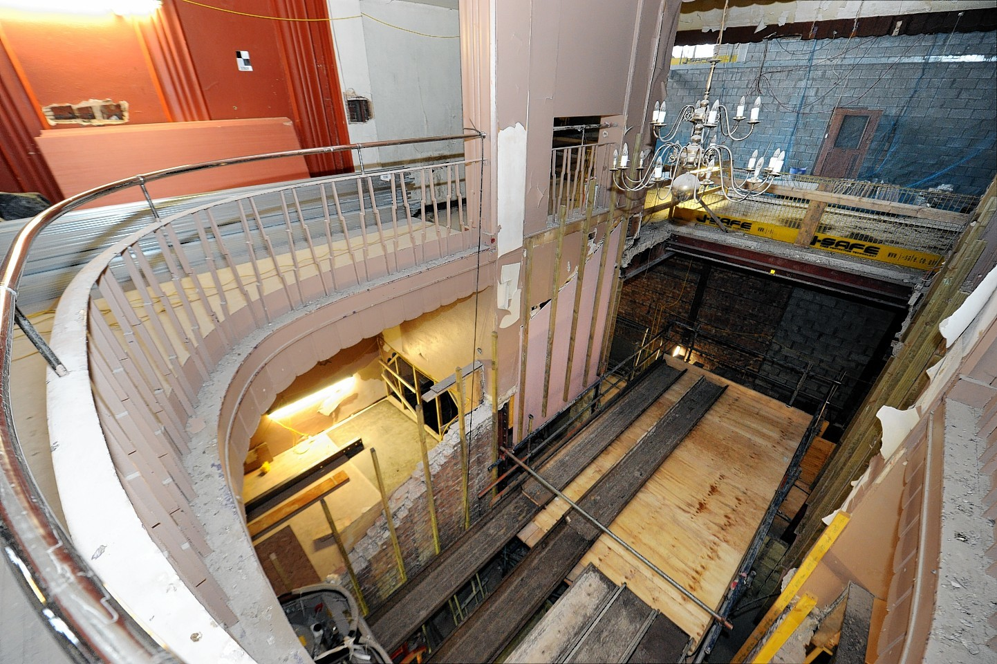 Pictures show work progressing on the Capitol