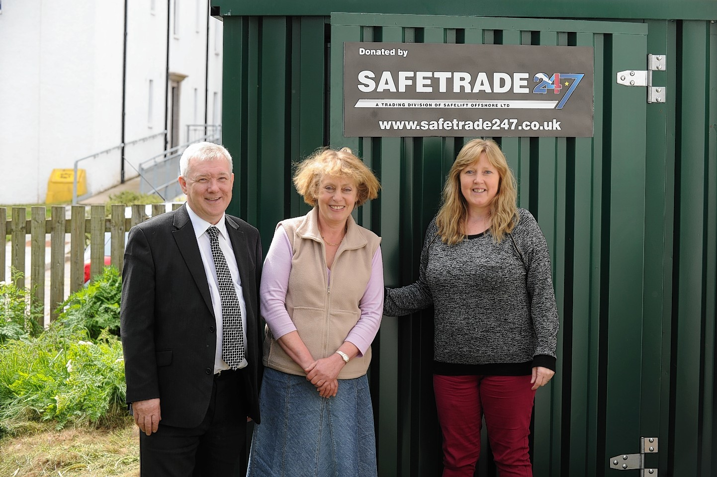 A new storage unit for Clan charity, Ballater