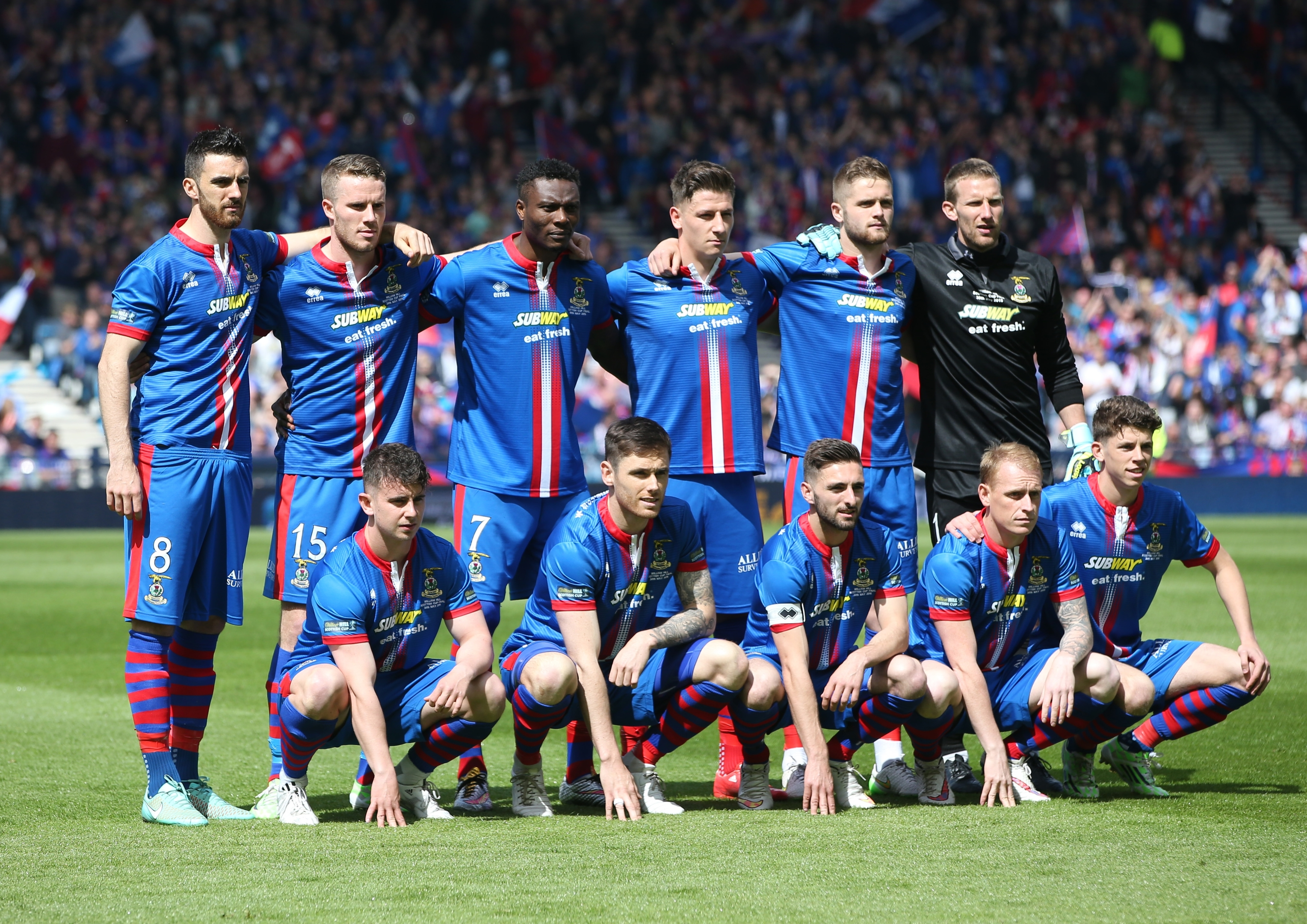 The newly crowned Inverness Caley Thistle legends