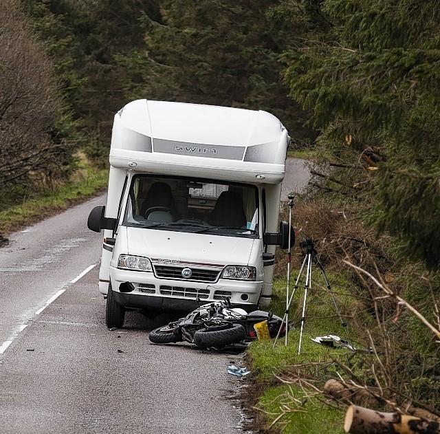 The scene of the crash near Aultbea