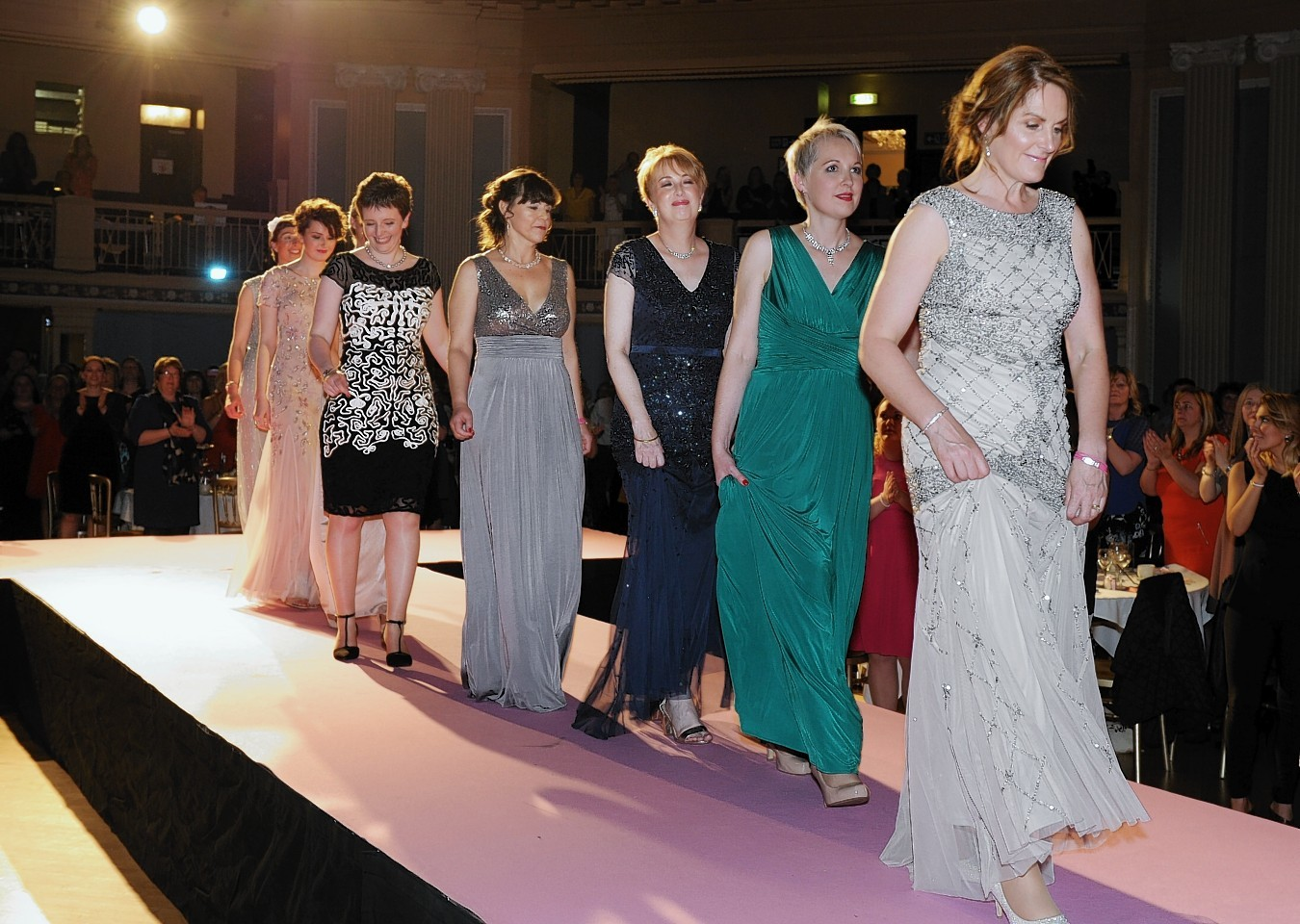 Some of the beautiful models on the catwalk earlier this year. Picture by Colin Rennie.