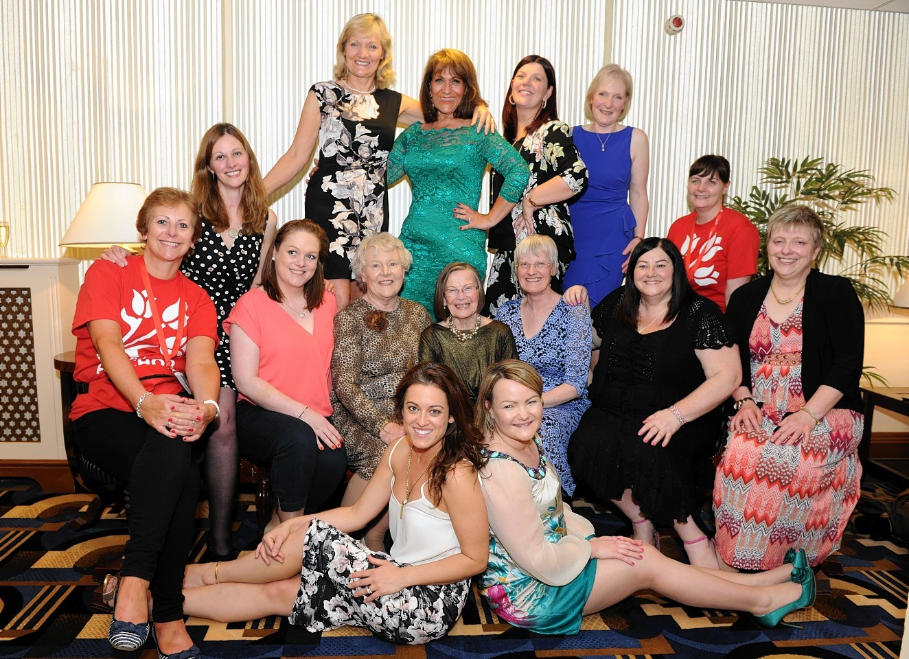 The brave models who dazzled on the catwalk last year. Picture by Colin Rennie.