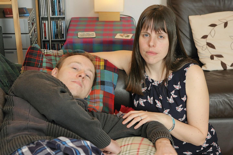 David Baldwin with his wife Cerian