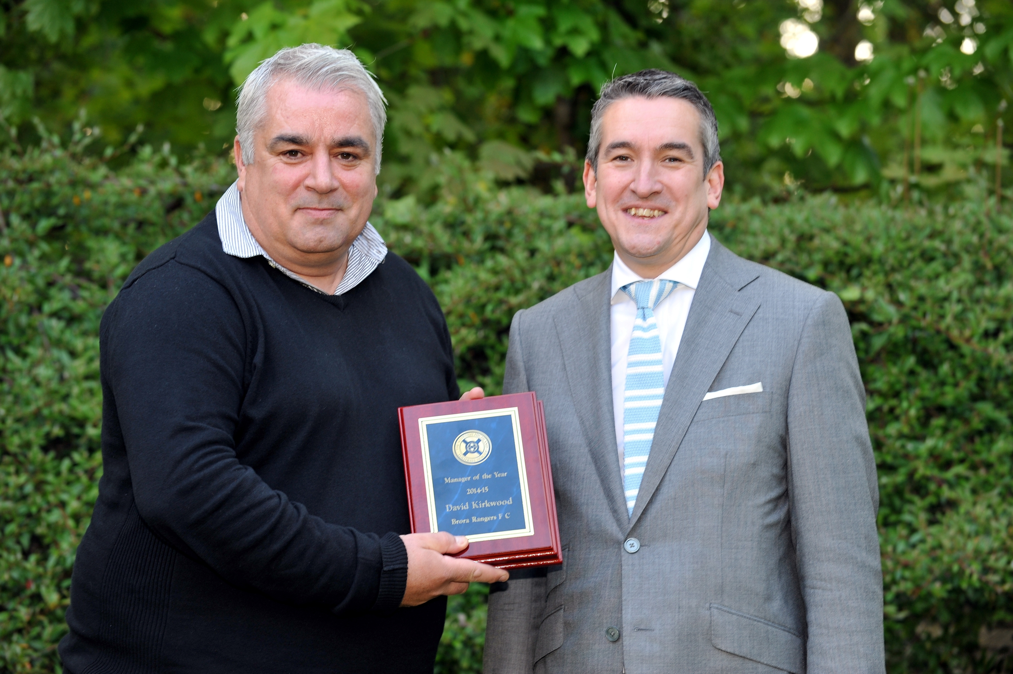 Kirkwood was named Highland League manager of the year last season. Picture by Gordon Lennox