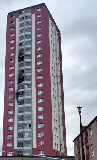 The blaze tore through a number of floors