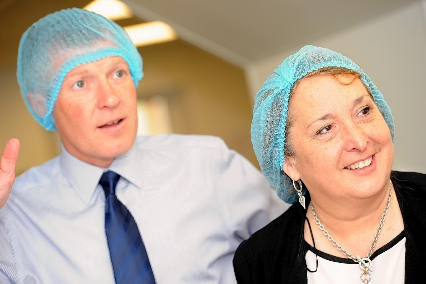 Scottish Lib Dem leader Willie Rennie joined Christine Jardine campaigning in Inverurie