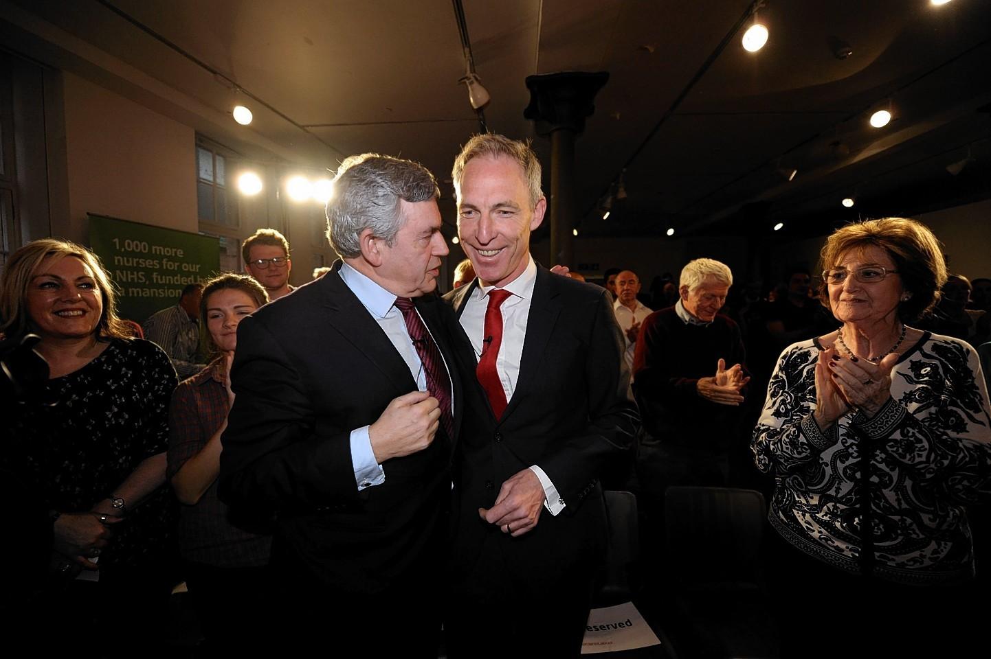 Former Labour leader Gordon Brown and Scottish Labour leader Jim Murphy