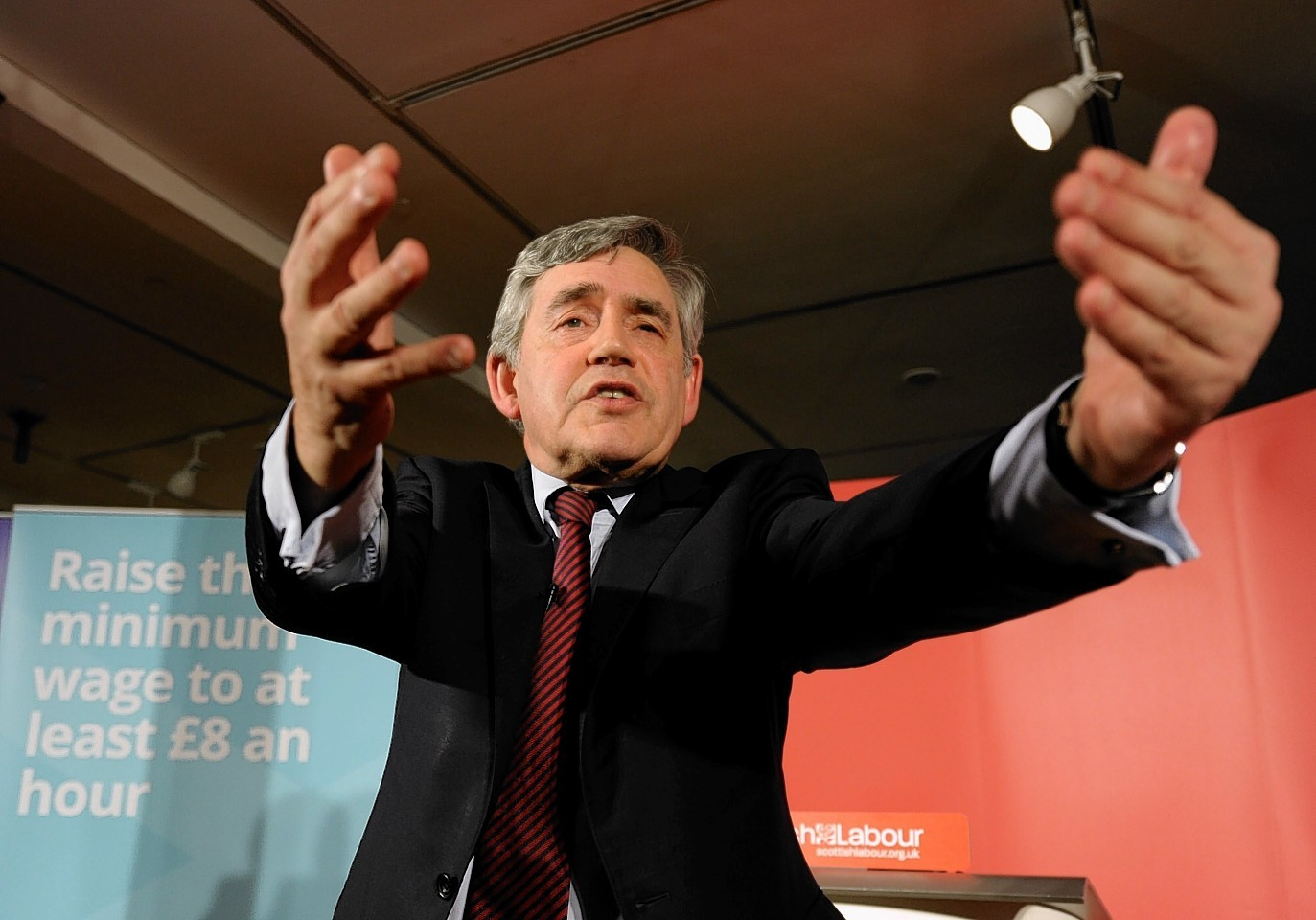 Former Labour leader Gordon Brown at the Lighthouse, Glasgow