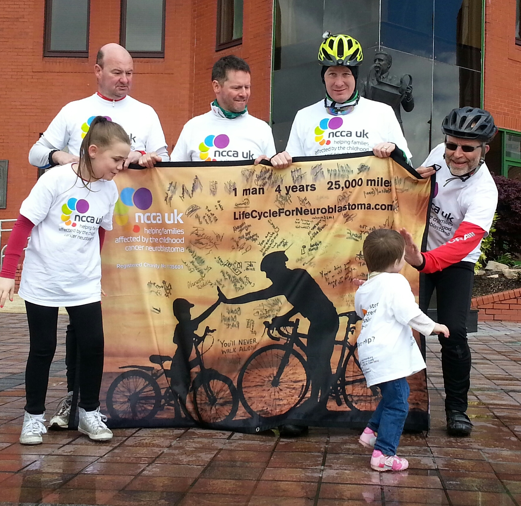 The Highland cycle helped raise crucial funds