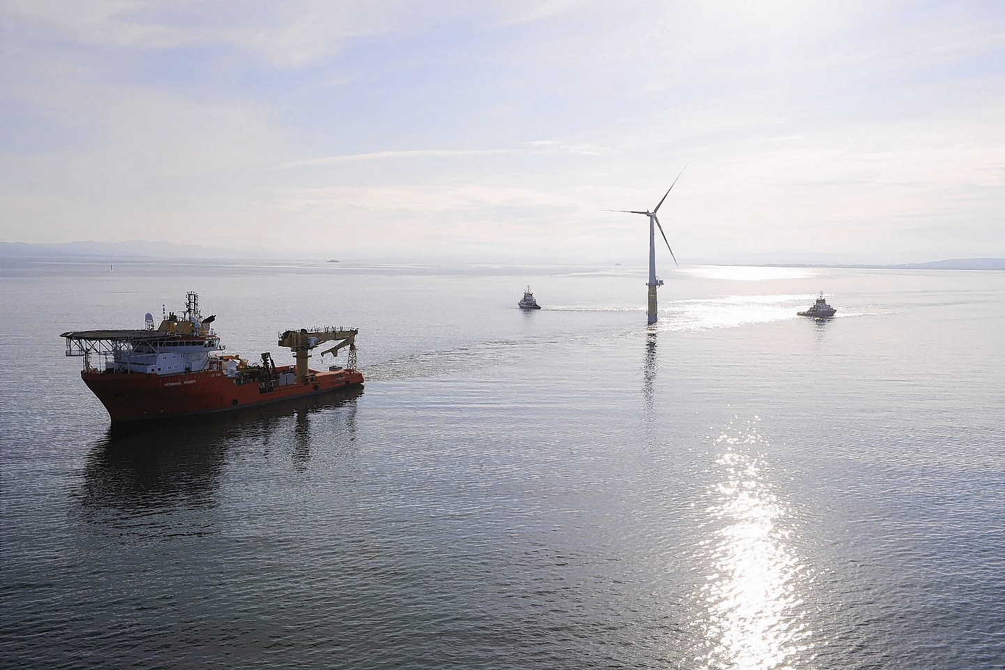 Statoil will site five 600ft turbines 13 nautical miles off Peterhead.