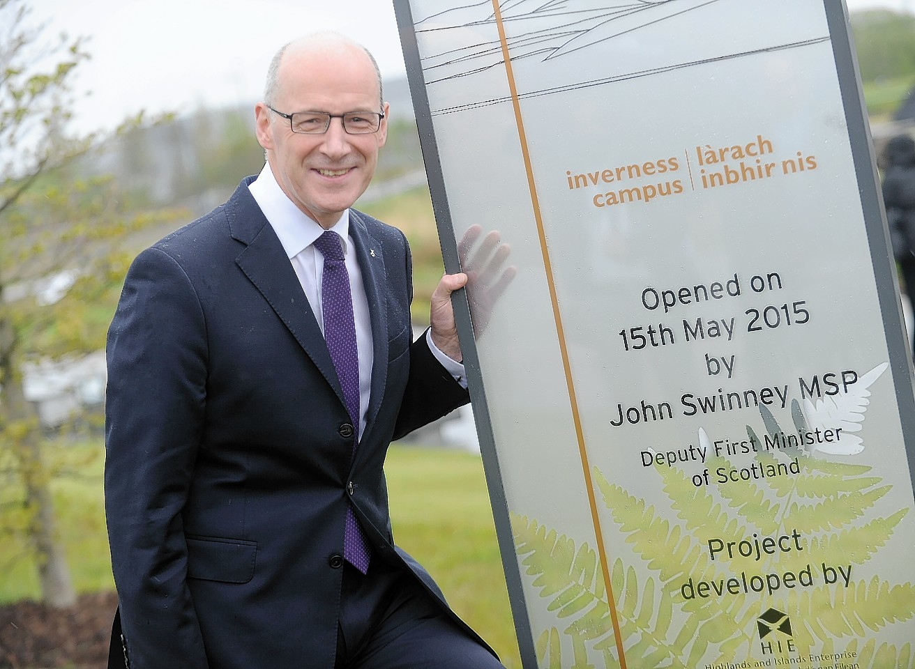 John Swinney, Deputy First Minister yesterday officially opened the new Inverness Campus.