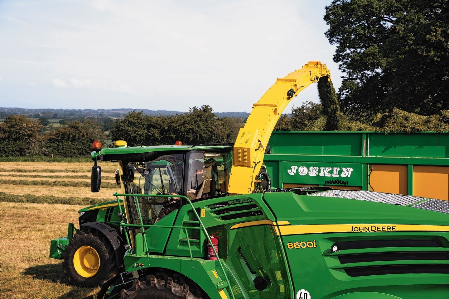 The new John Deere 8600i self propelled forage harvester