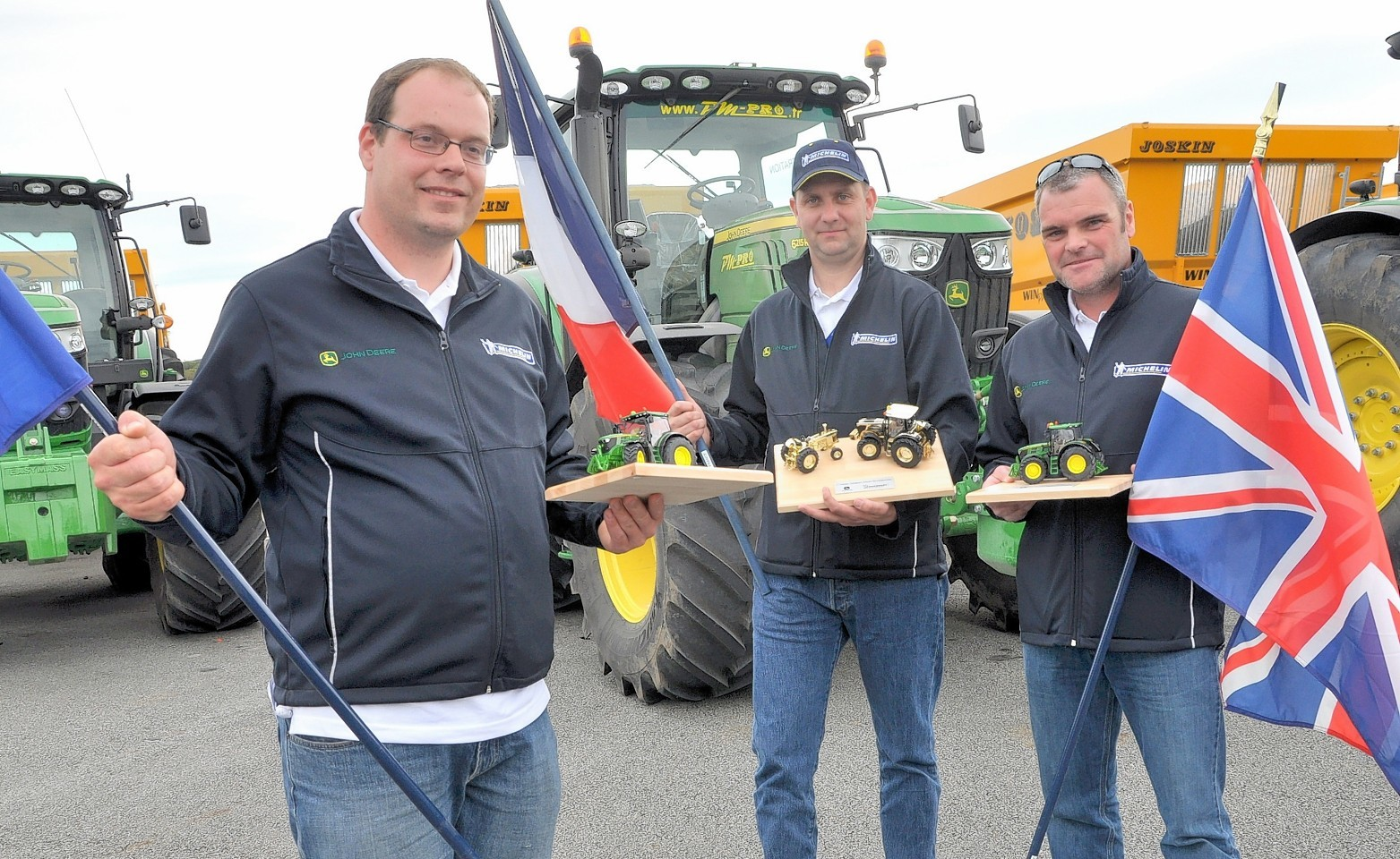 From left, in third place was Edwin Dekkor, Netherlands; winner Sebastien Mahaut from France and in second place was Simon Richardson from UK.
