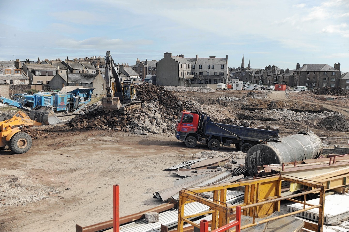 The Kirkburn Mill was demolished but work has yet to begin on a new supermarket