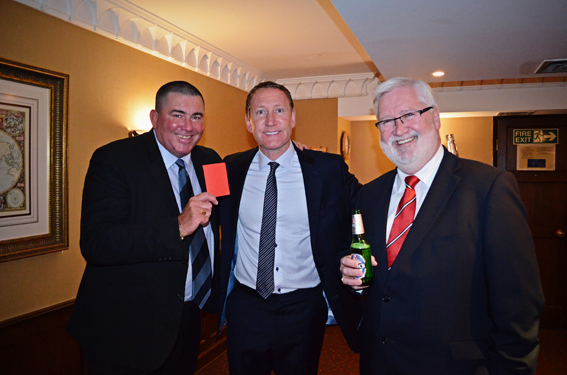 Jeff Winter, Ray Parlour  and Dougie Thomson at the Deveronvale FC  Sportsman's Dinner